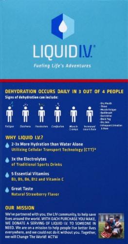 Liquid I.V. Hydration Multiplier Strawberry Electrolyte Drink Mix Sticks Perspective: left