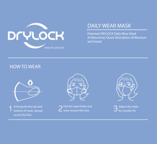 Drylock Medium Black Washable Mask and Filters Perspective: left