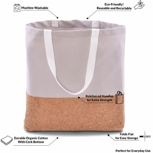Cotton Tote Bag, Designer Grocery Bag, Trendy Reusable Shopping Bags, Eco Friendly Perspective: left