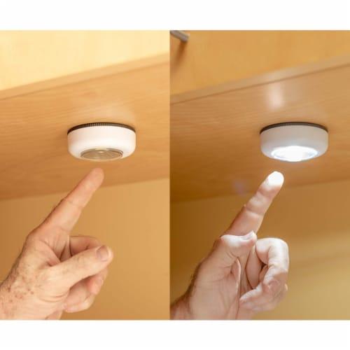 2PCS COB LED Night Light Push Stick On Wireless Closet Cordless Battery Operated Perspective: left