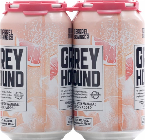10 Barrel Brewing Greyhound Prepared Cocktails 4 Cans Perspective: left