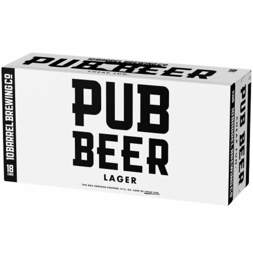 10 Barrel Brewing Pub Beer Lager Perspective: left