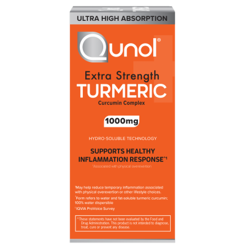 Qunol® Turmeric Ultra High Absorption Vegetarian Capsules 1000mg Perspective: left