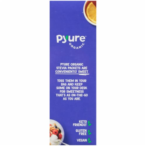 Pyure Organic Stevia Granular Sweetener Packets Perspective: left