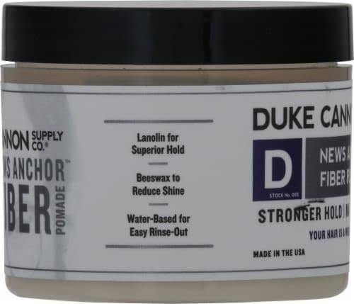 Duke Cannon News Anchor Fiber Pomade Perspective: left