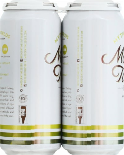 Modern Times Mythic Worlds IPA Beer Perspective: left