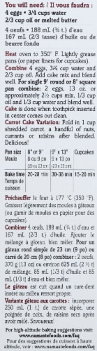 Namaste Gluten Free Spice Cake Mix Perspective: left