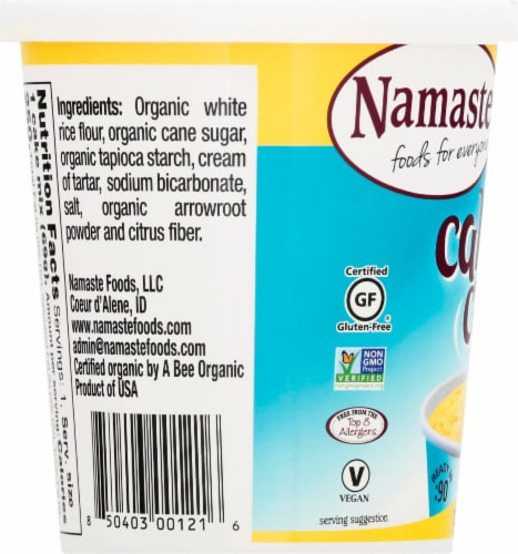 Namaste Foods Organic Cake Cup Yellow Cake Mix Perspective: left