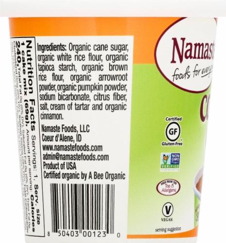 Namaste Foods Organic Cake Cup Cinnamon Sugar Cake Mix Perspective: left