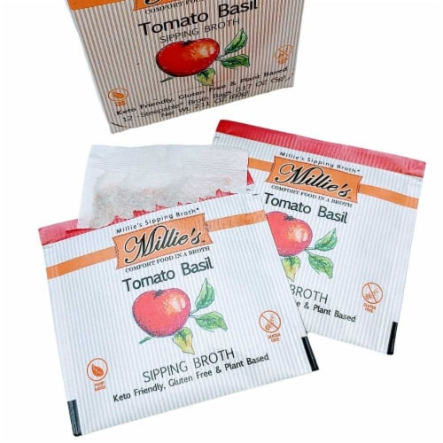 Millie's Tomato Basil Sipping Broth - 36 Count Perspective: left