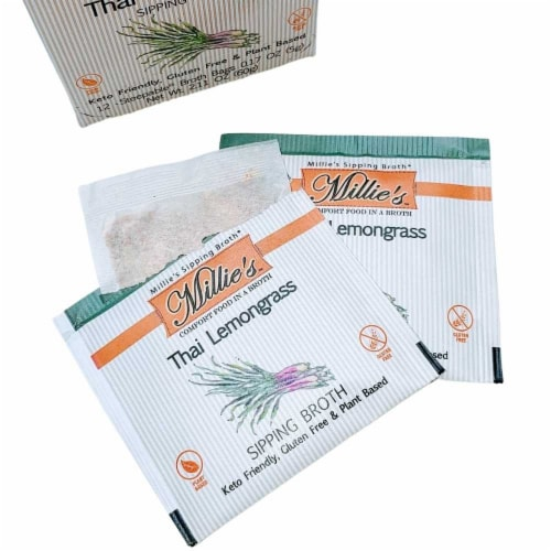 Millie's Thai Lemongrass Sipping Broth - 36 Count Perspective: left