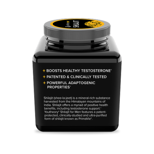 Youtheory Mens Shilajit Capsules Perspective: left