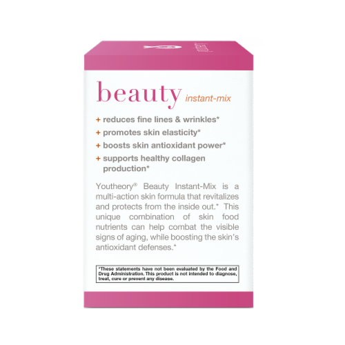 Youtheory® Beauty Instant Mix Dietary Supplement Powder Packets Perspective: left
