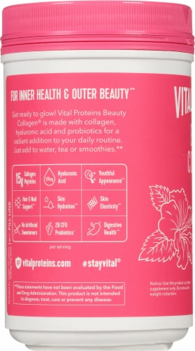 Vital Proteins Beauty Collagen Tropical Hibiscus Dietary Supplement Perspective: left