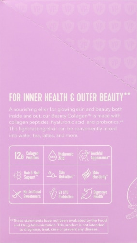 Vital Proteins Beauty Collagen Lavender Lemon Packets Perspective: left
