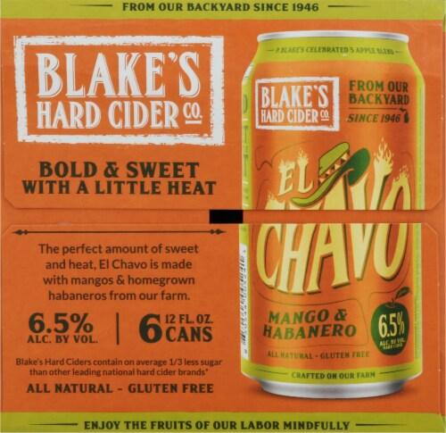 Blake's El Chavo Mango & Habanero Hard Cider Perspective: left