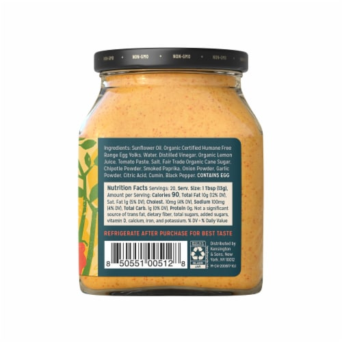 Sir Kensington's Chipotle Mayonnaise Perspective: left