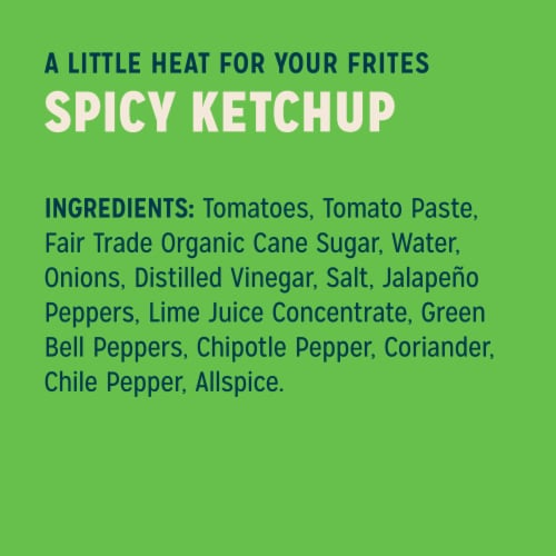 Sir Kensington's Vegan & Paleo Spicy Ketchup Gluten-Free Condiment Perspective: left