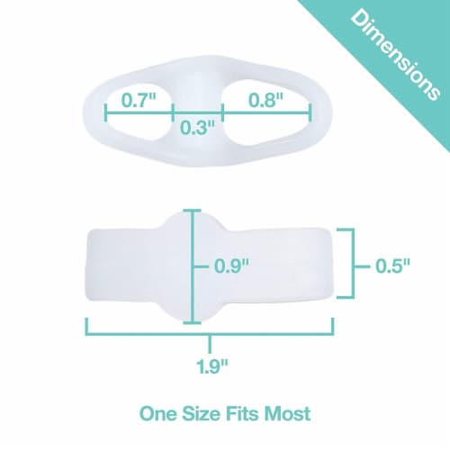 ZenToes Toe Separators with 2 Loops - Pack of 4 Soft Gel Bunion Correctors (White) Perspective: left