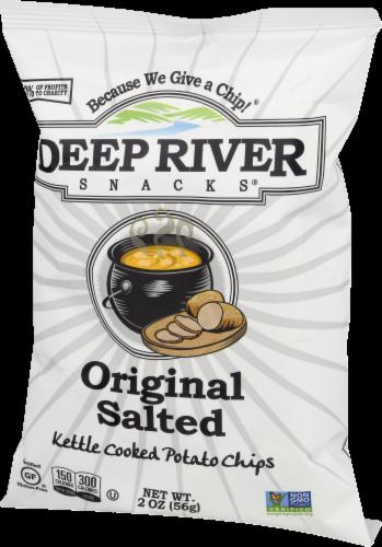 Deep River Snacks Original Salted Kettle Cooked Potato Chips Perspective: left