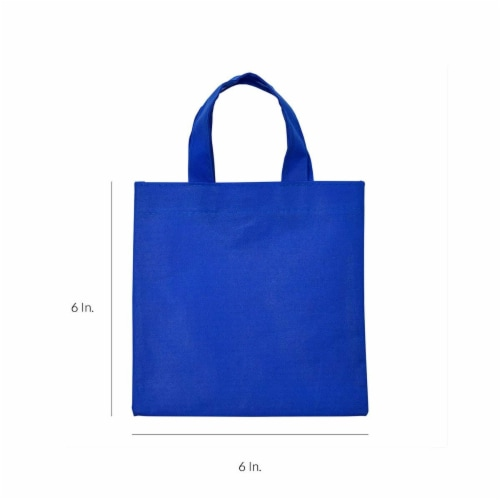 6x6 Inch Flat Reusable Gift Bags with Handles, Eco Friendly Totes, Fabric Goodie Bags Perspective: left
