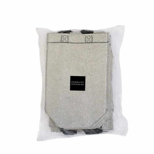 Prime Line Packaging Reusable Glitter Gift Bag with Handles Perspective: left