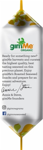 GimMe® Organic Sesame Roasted Seaweed Snack Perspective: left