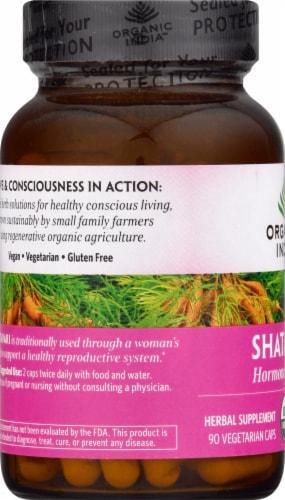 Organic India Shatavari Vegetarian Capsules Perspective: left