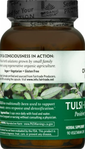 Organic India Tulsi Holy Basil Perspective: left