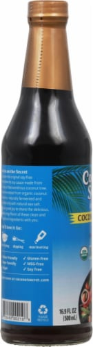 Coconut Secret Raw Coconut Aminos Soy-Free Seasoning Sauce Perspective: left