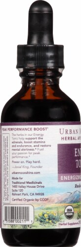 Urban Moonshine Energy Tonic Herbal Supplement Perspective: left