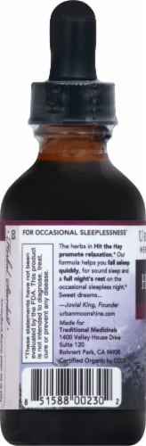Urban Moonshine Passionfruit & Kava Hit The Hay Sleep Support Supplement Perspective: left