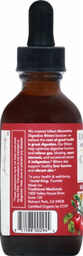 Urban Moonshine Organic Cider Vinegar Bitters Perspective: left