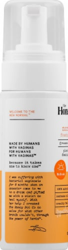 The Honey Pot Normal Plant-Based Foaming Feminine Wash Perspective: left
