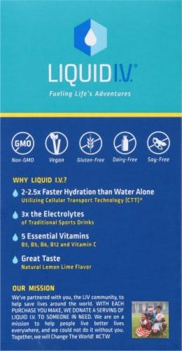 Liquid I.V. Hydration Multiplier Lemon Lime Electrolyte Drink Mix Sticks Perspective: left