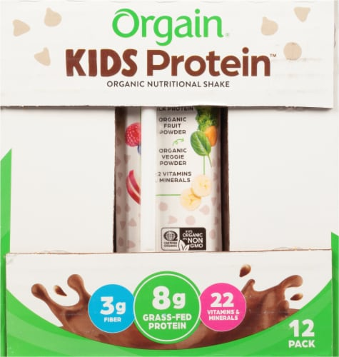 Orgain Kids Protein Chocolate Organic Nutritional Shake Perspective: left