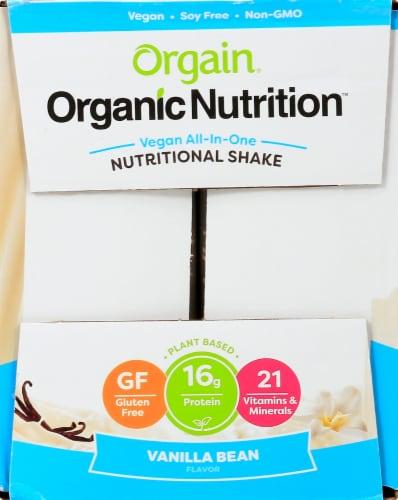 Orgain Organic Vegan Vanilla Bean Nutritional Shake Perspective: left