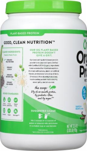 Orgain Organic Vanilla Bean Protein Powder Perspective: left