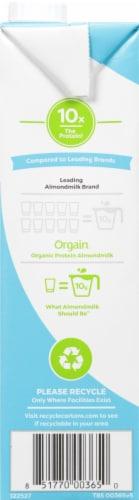 Orgain Organic Protein Lightly Sweetened Vanilla Almondmilk Perspective: left