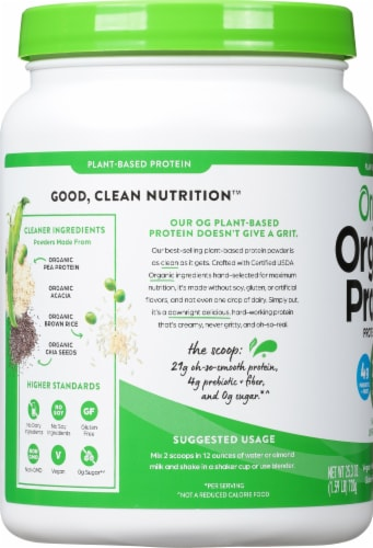 Orgain  Organic Protein™ Plant Based Powder   Natural Unsweetened Perspective: left