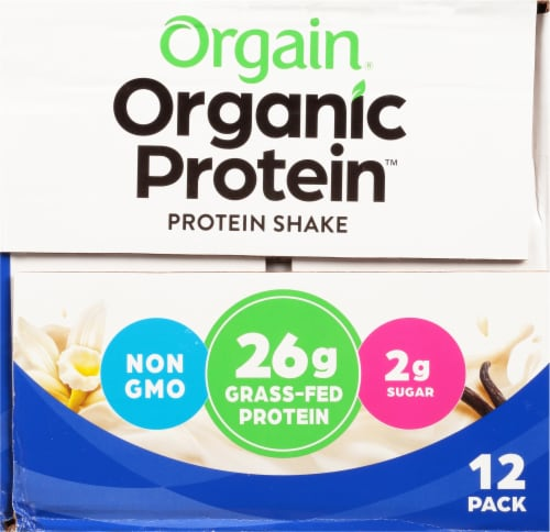 Orgain Organic Protein Vanilla Bean Nutritional Protein Shake Perspective: left