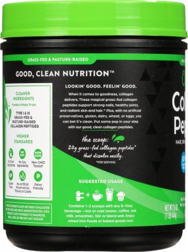 Orgain® Unflavored Collagen Peptides Protein Powder Perspective: left