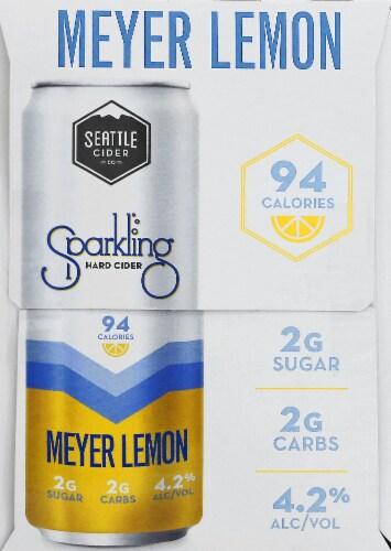 Seattle Cider Meyer Lemon Sparkling Hard Cider Perspective: left