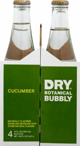 DRY Sparkling Cucumber Soda Perspective: left