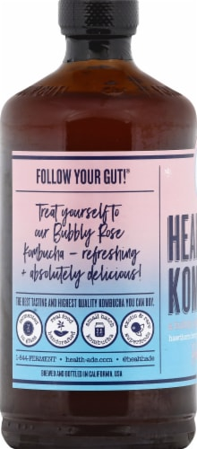 Health Ade + Tone It Up Bubbly Rose Kombucha Perspective: left