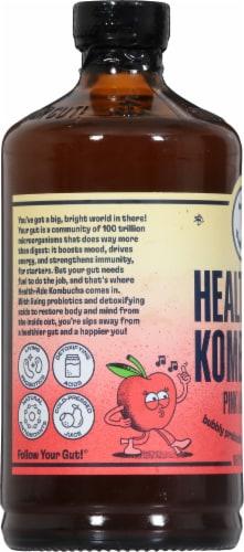 Health-Ade Pink Lady Apple Kombucha Probiotic Tea Perspective: left