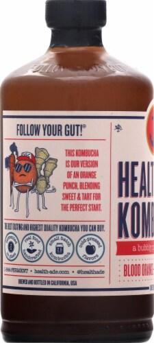 Health-Ade Blood Orange Carrot Ginger Kombucha Perspective: left