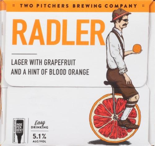 T.W. Pitchers' Brewing Co. Radler Lager Beer Perspective: left