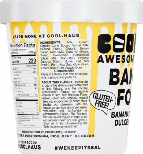 Coolhaus Bananas Foster Gluten Free Ice Cream Perspective: left