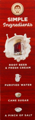 Jonny Pops Old Fashioned Root Beer Float with Fresh Cream Pops Perspective: left
